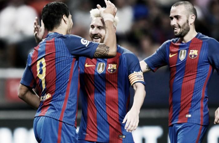 Com boa atuação de Suárez, Barcelona vence Leicester City pela Champions Cup