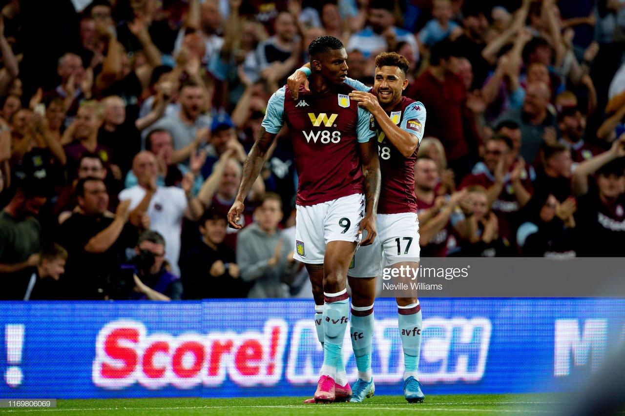 Aston Villa 2-0 Everton: Powerful Wesley bullies Blues as Villians pick up first points