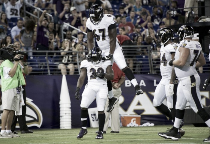 Baltimore Ravens complete comeback over the Carolina Panthers to open preseason