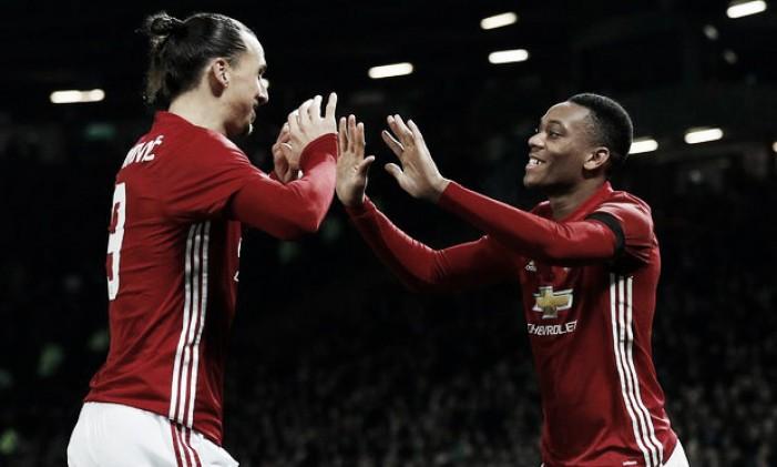 United supera West Ham com dois de Ibra e alcança semifinais da Copa da Liga