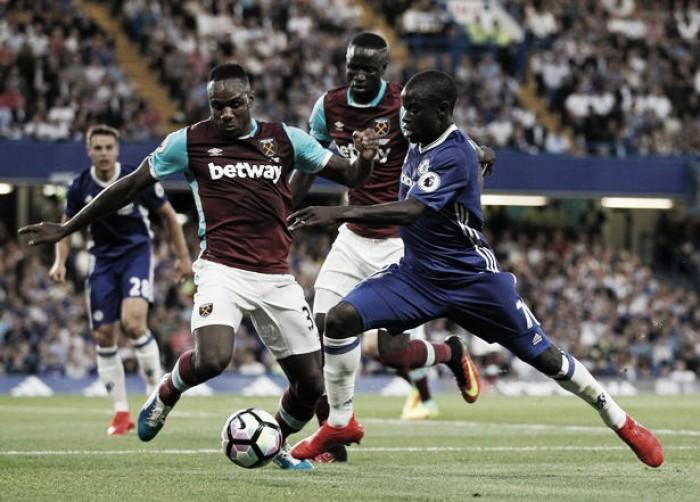 West Ham - Chelsea, Premier League 2016/17 (1-2): Hazard, raddoppia Costa, accorcia Lanzini