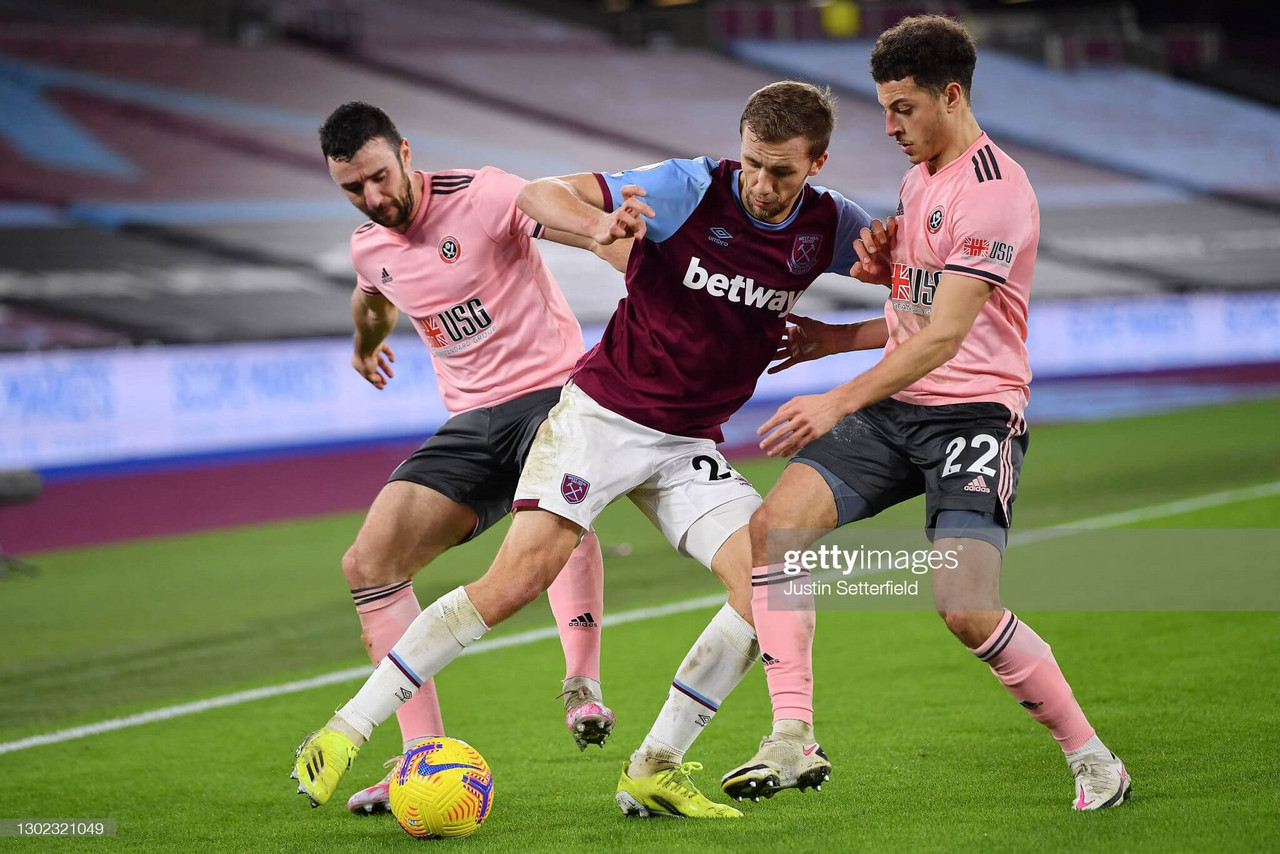West Ham United 3-0 Sheffield United: Blades cause their own problems as they stay rooted to foot of table