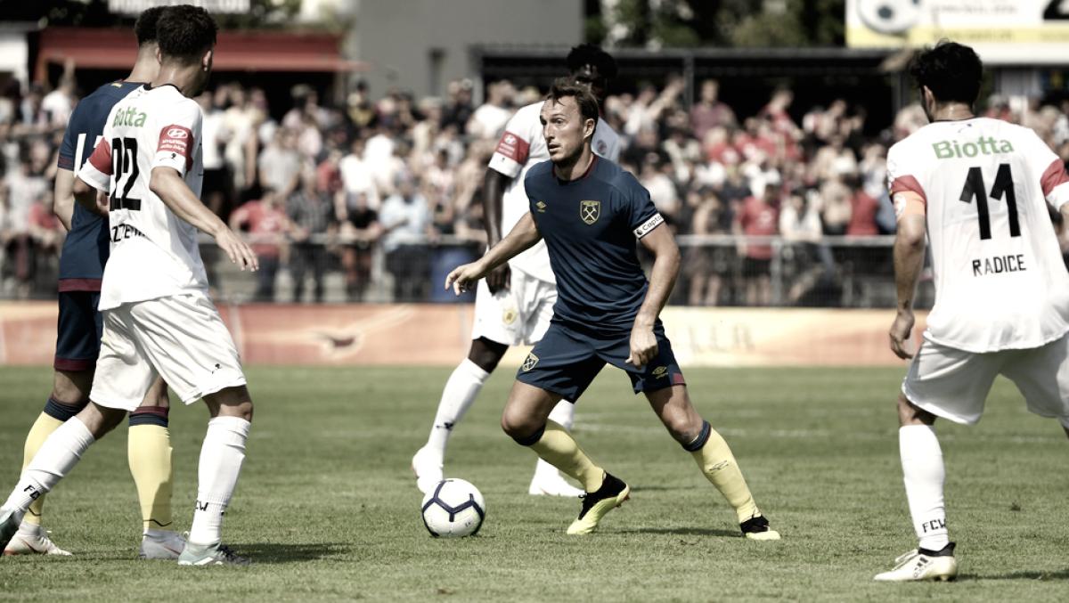 Pellegrini cae en su debut con West Ham