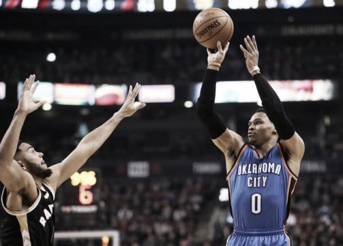 Oklahoma City Thunder trounce the Toronto Raptors, 123-102