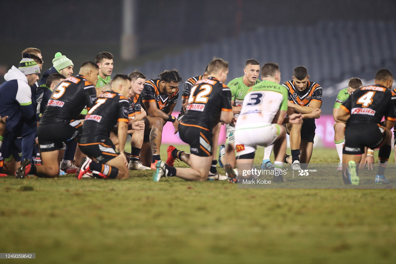 Wests Tigers 6-14 Canberra Raiders: Raiders come from behind to avenge Newcastle defeat in stunning contest