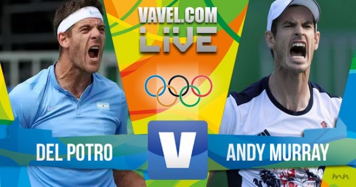 Resultado Murray 3-1 Del Potro pelo Ouro do tênis da Rio 2016