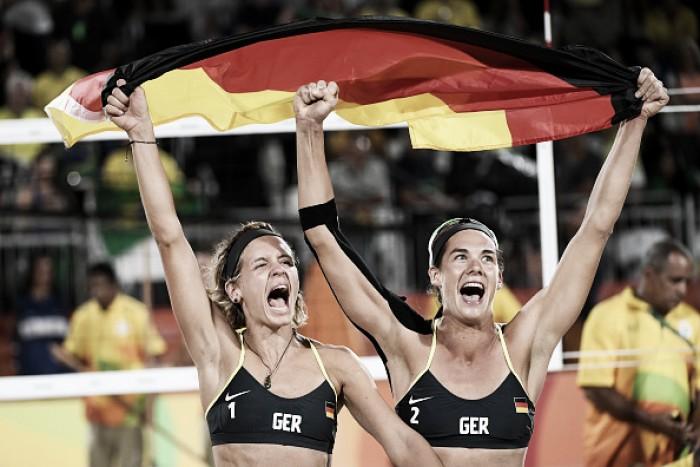 Ágatha e Bárbara lutam, mas caem para dupla alemã e ficam com a prata no Vôlei de Praia