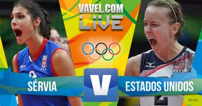 Resultado Sérvia 3 x 2 Estados Unidos semifinal feminina do vôlei na Rio 2016