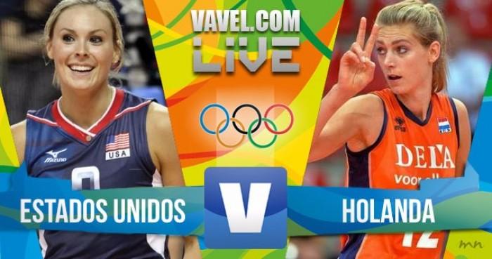 Estados Unidos vencem a Holanda no Vôlei feminino dos jogos Olímpicos (3-1)