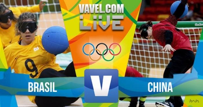 Resultado do jogo Brasil x China no Goalball feminino dos Jogos Paralímpicos Rio 2016 (3-4)