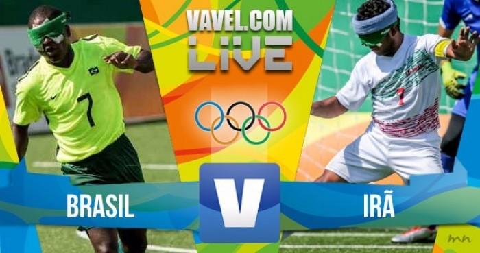 Resultado do jogo Brasil x Irã na final do Futebol de 5 dos Jogos Paralímpicos Rio 2016 (1-0)