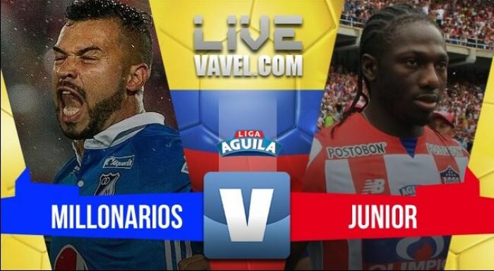 Resultado Millonarios 1-2 Junior por la Liga Águila 2017-II