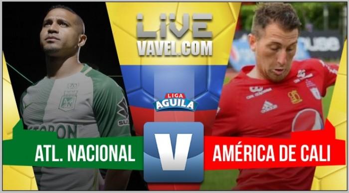 Nacional se impuso 2-0 ante América y extiende su invicto en el Atanasio