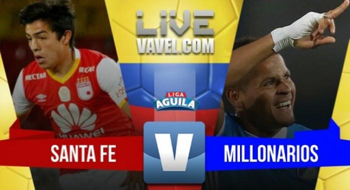 Santa Fe se impone 1-0 ante un Millonarios que no define