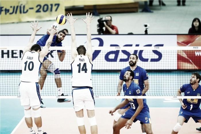 Seleção Masculina sai na frente, mostra instabilidade e perde para Itália na Copa dos Campeões