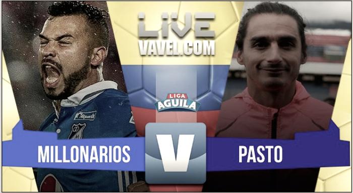 Millonarios vs Deportivo Pasto en vivo y en directo online por la Liga Águila 2017-II (1-0)