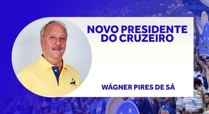 Wágner Pires de Sá vence eleição e é o novo presidente do Cruzeiro