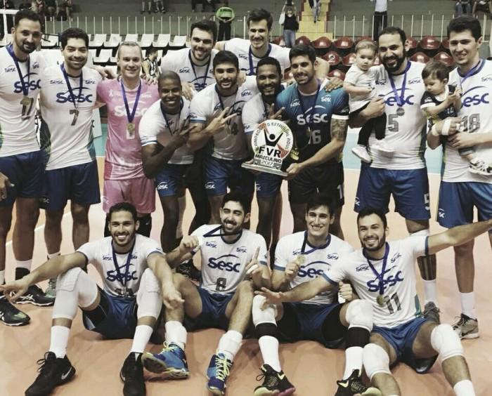 Sesc-RJ volta a superar Botafogo e conquista bicampeonato do Carioca Masculino de Vôlei