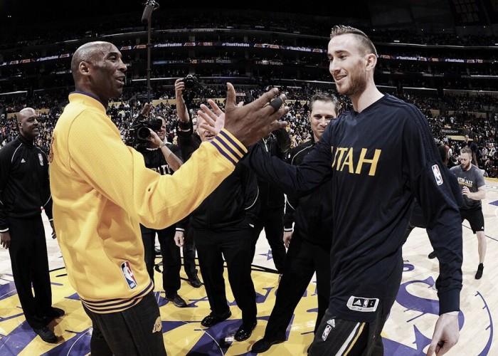 Kobe Bryant escreve mensagem de apoio a Gordon Hayward