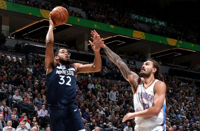 Titulares dominam e Timberwolves vencem Thunder pela segunda vez na temporada