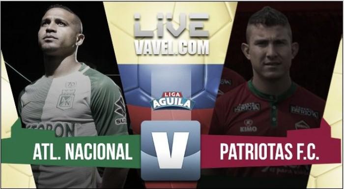 Atlético Nacional le ganó a Patriotas y se subió a la punta de la liga