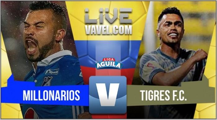 Millonarios empata frente a Tigres en El Campín (1-1)