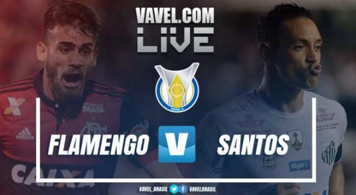 Resultado Flamengo x Santos no Campeonato Brasileiro 2017 (1-2)