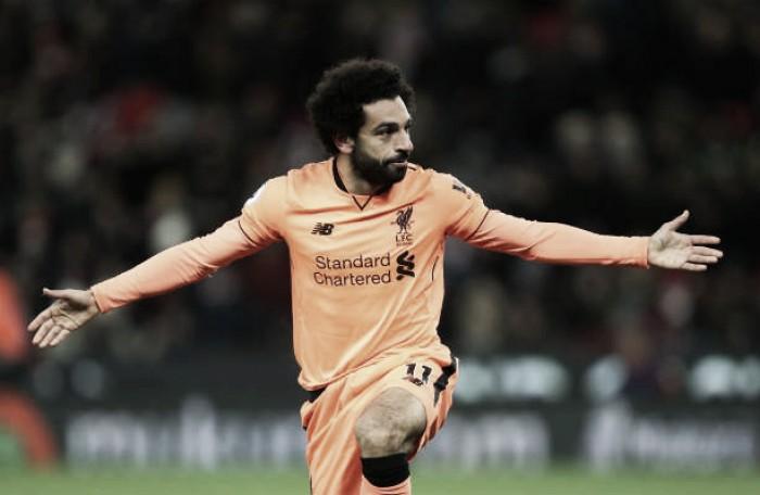 Salah e Mané marcam e comandam vitória do Liverpool sobre Stoke City