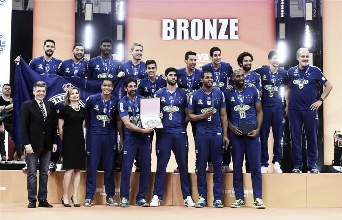 Sada Cruzeiro encerra participação no Mundial de Clubes com medalha de bronze