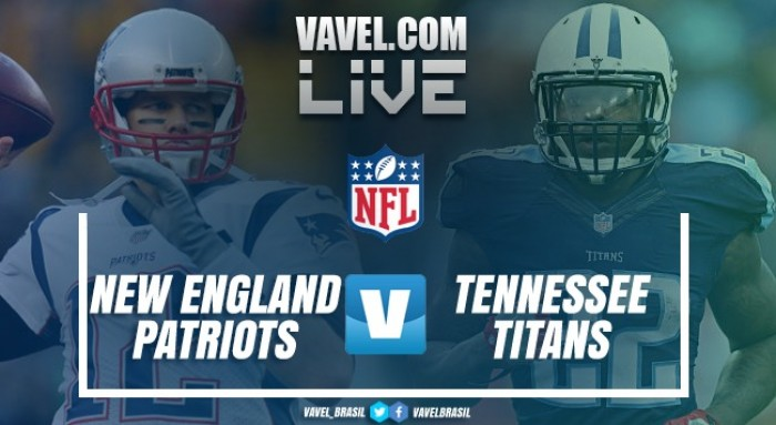 Resultado New England Patriots vs Tennessee Titans pelos playoffs da NFL (35-14)