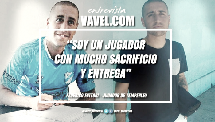 """Entrevista. Federico Fattori: """"Soy un jugador con mucho sacrificio y entrega"""""""