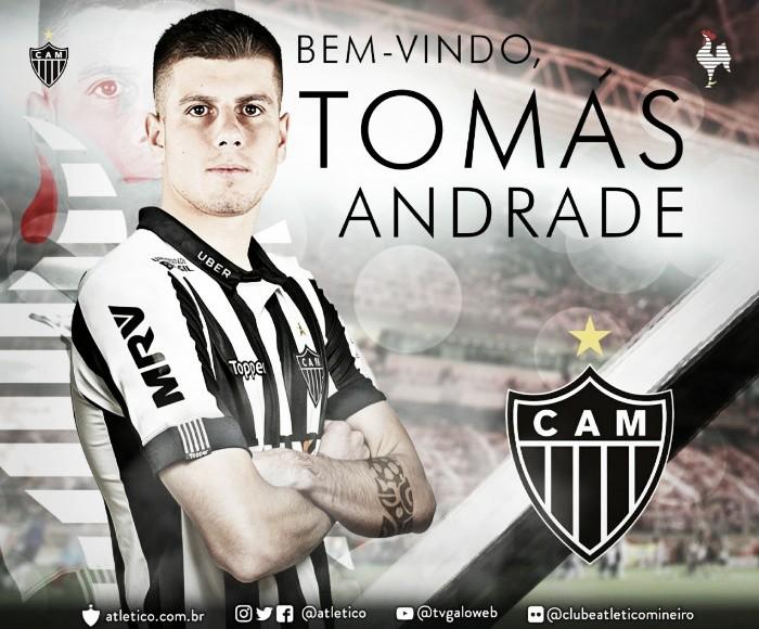 Atlético-MG anuncia Tomás Andrade junto ao River Plate