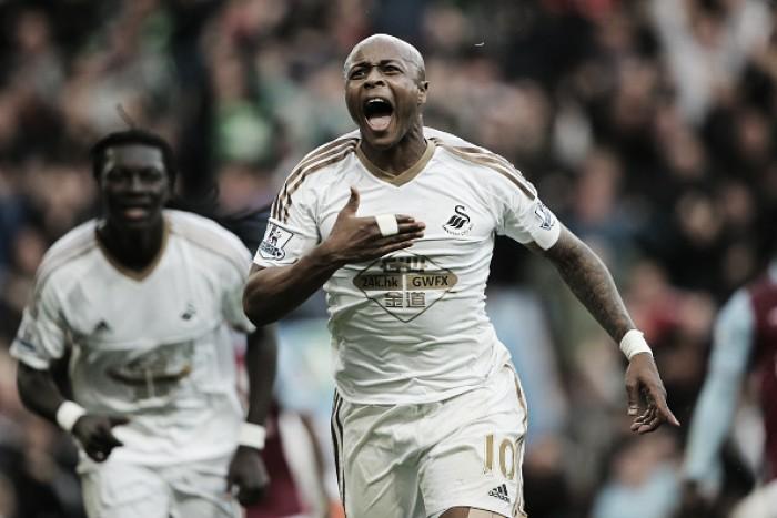 Após duas temporadas, atacante André Ayew retorna ao Swansea City