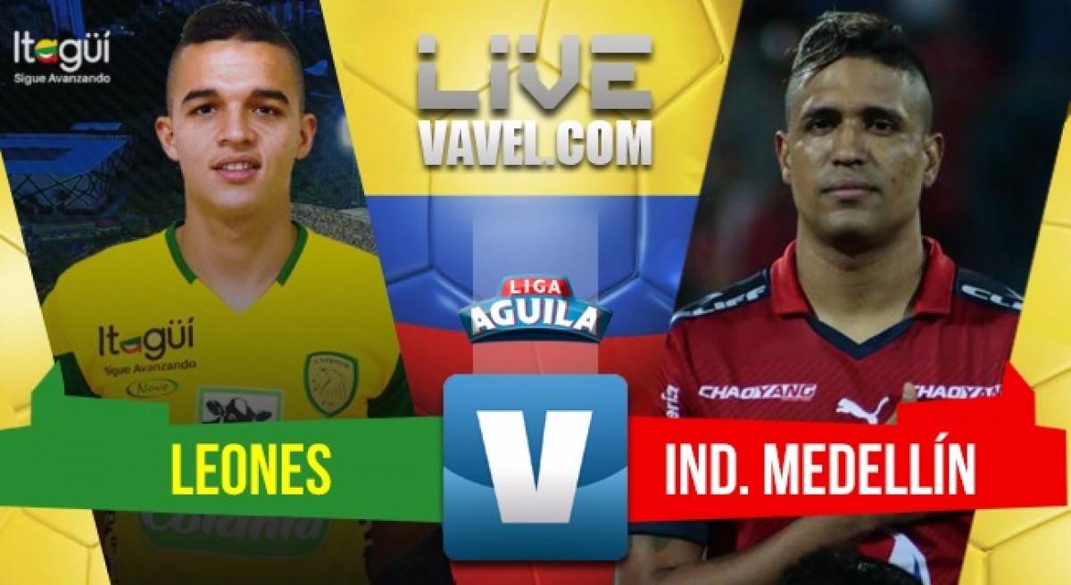 Resumen Leones F.C vs Ind. Medellín (0-2)