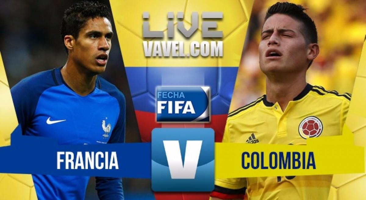 Colombia le remontó un 2-0 a Francia y se impuso 3-2