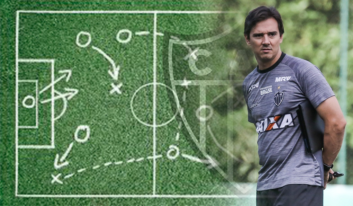 Modelo de jogo, posse e passe: Thiago Larghi dá nova cara ao Atlético-MG