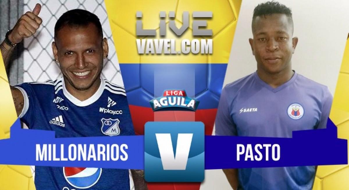 Millonarios vs Deportivo Pasto en vivo y en directo online por la Liga Águila 2018-1 (2-0)
