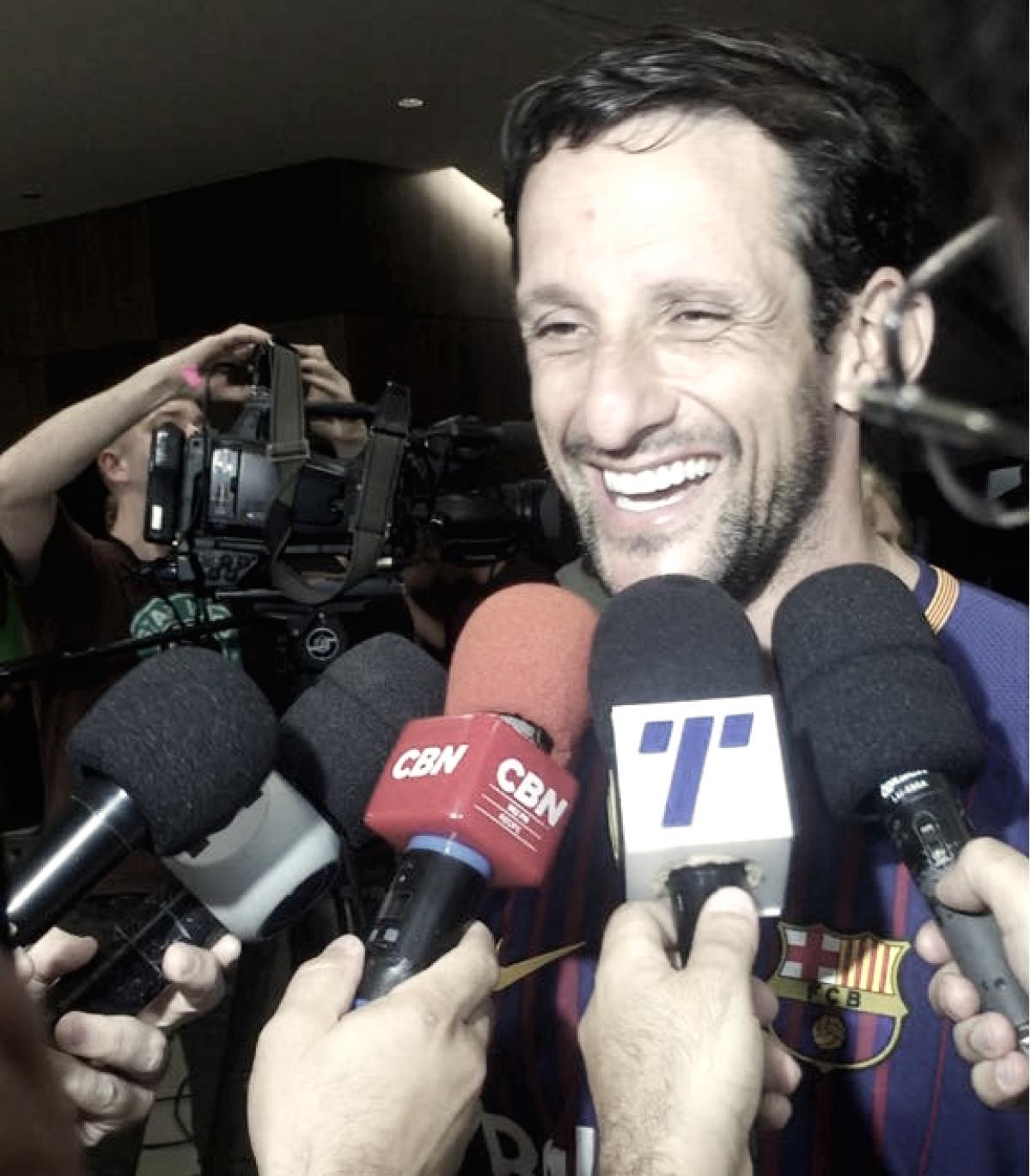 """Belletti celebra sucesso do Barcelona Legends em Pernambuco: """"Vimos a alegria nos olhos da torcida"""""""