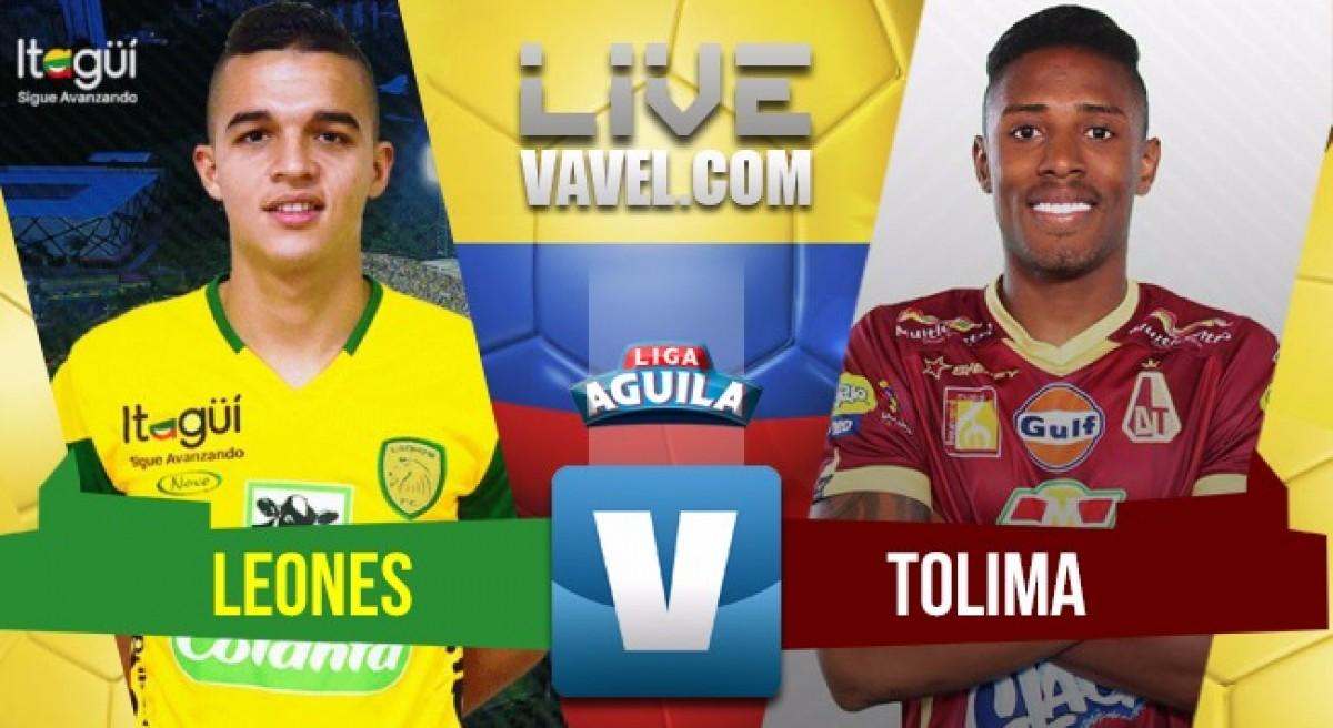 Deportes Tolima pone un pie y medio en los play offs gracias a su victoria en Itagüí ante Leones.