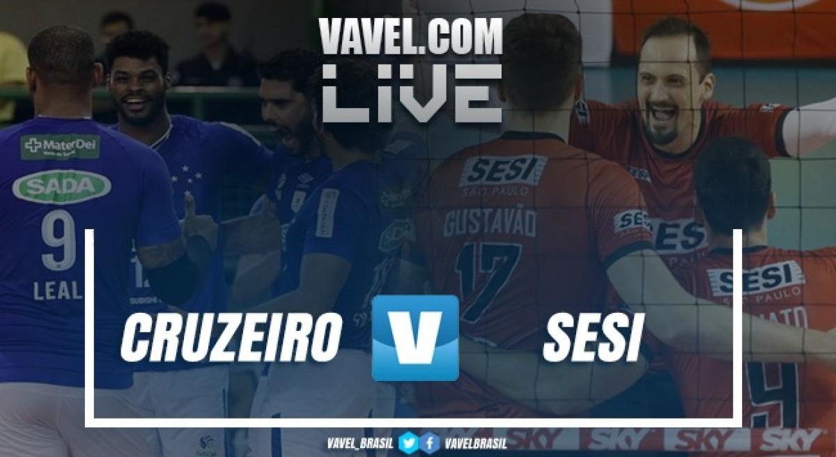 Resultado Sada/Cruzeiro x Sesi-SP pela final da Superliga Masculina de Vôlei (3-2)