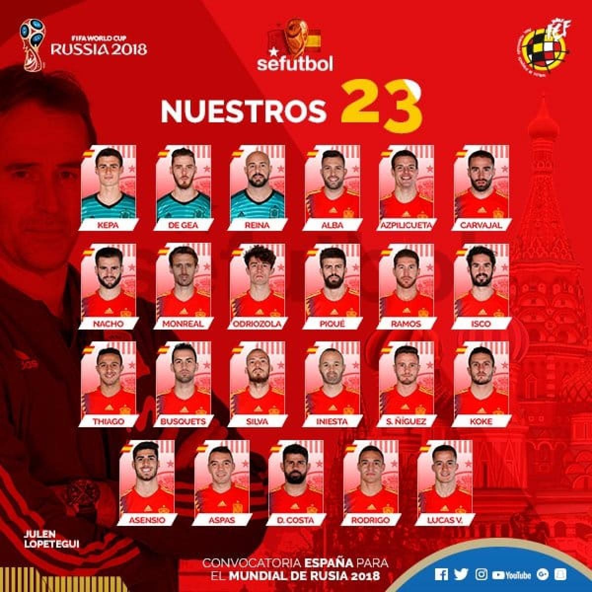 Espanha divulga lista final com ausência de Morata epresença de Diego Costa e Thiago Alcântara