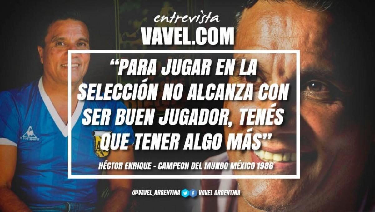 """Entrevista. Héctor Enrique: """"No hay que darle toda la responsabilidad a Lionel Messi"""""""