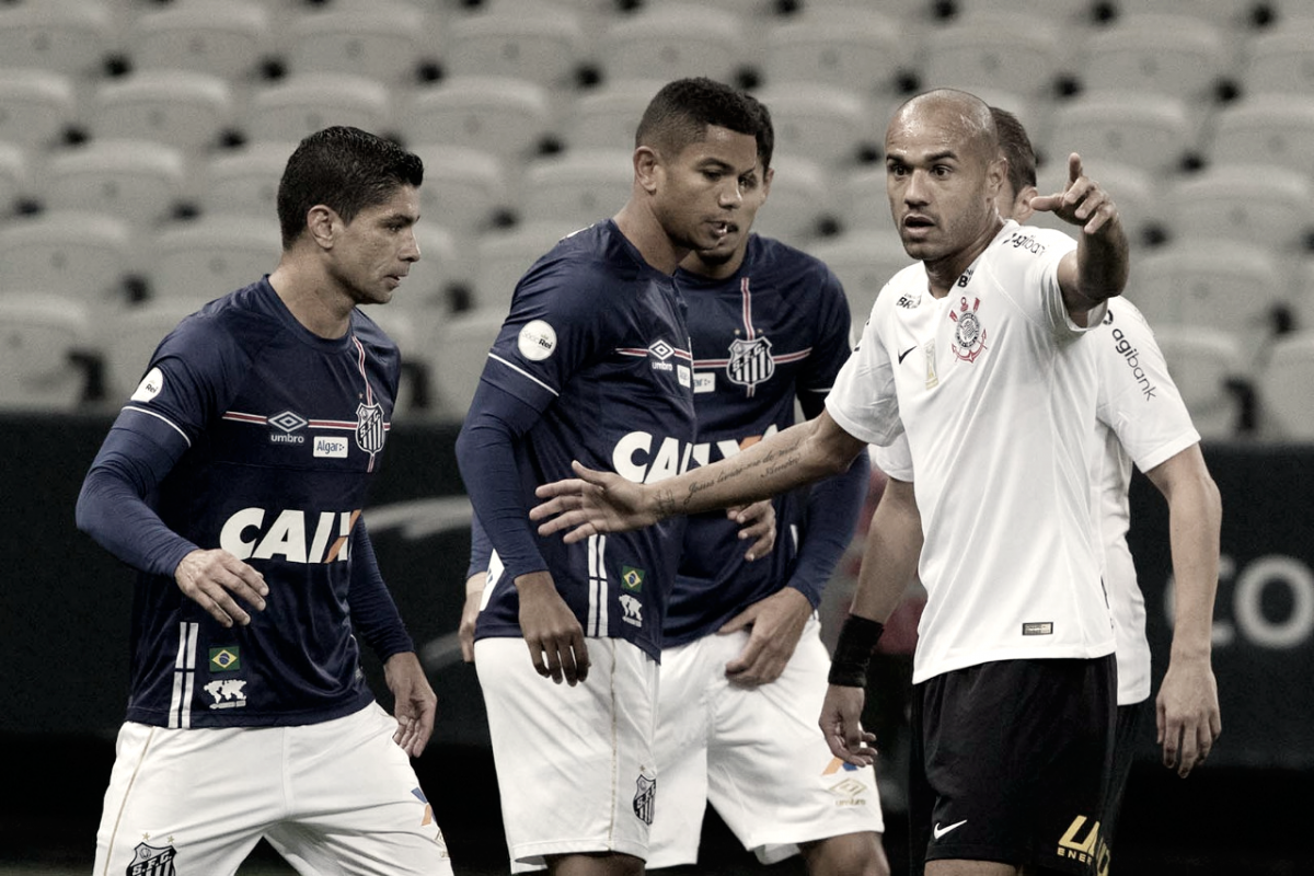 Com várias chances desperdiçadas, Corinthians e Santos empatam clássico alvinegro na Arena