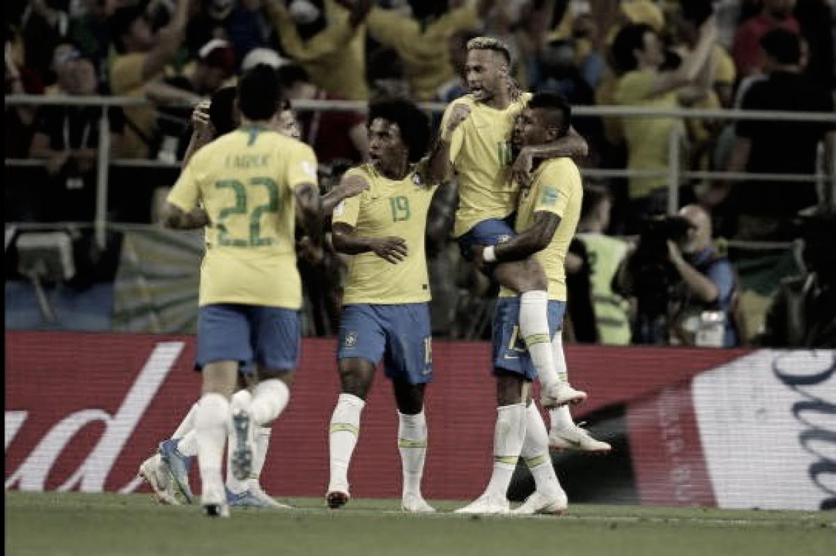 Pelo alto, Brasil vence Sérvia e encara o México nas oitavas