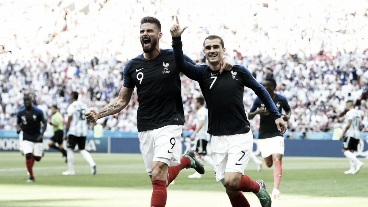 Em jogo de sete gols, França derruba Argentina e avança na Copa do Mundo