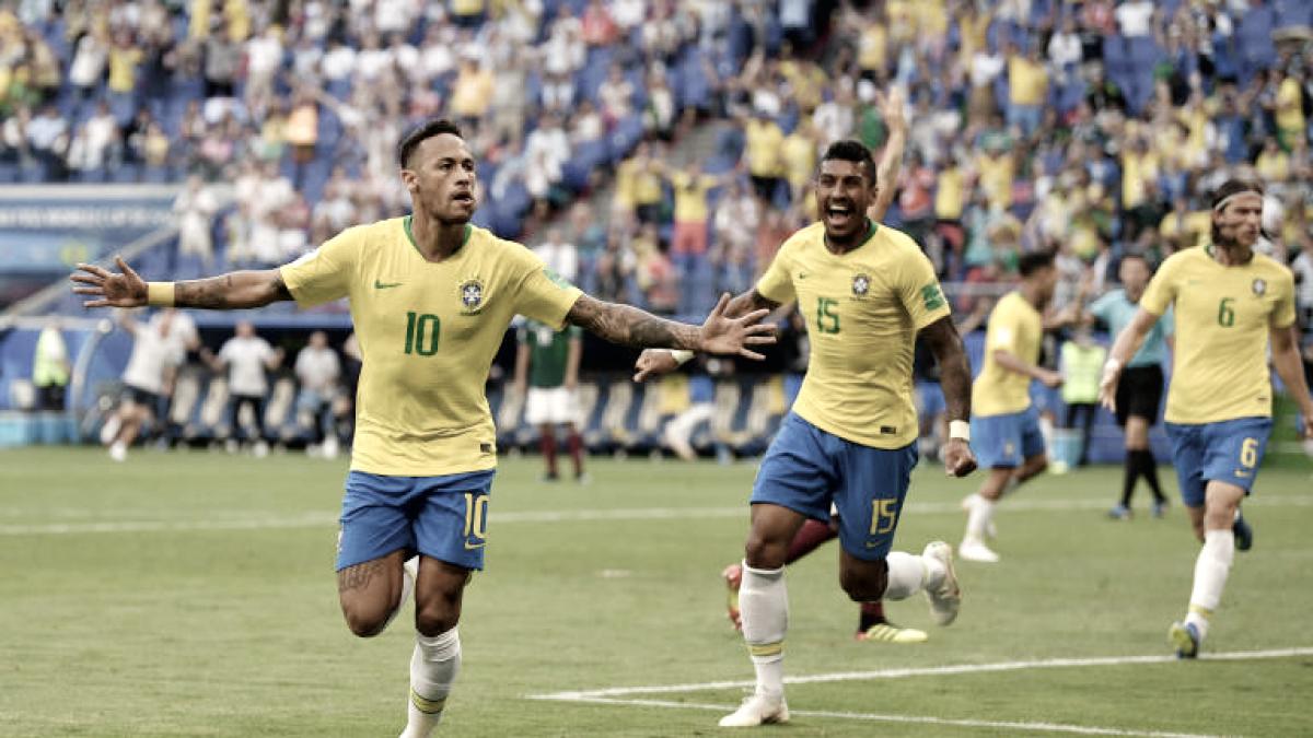 Neymar brilha, Brasil bate México e garante vaga nas quartas da Copa