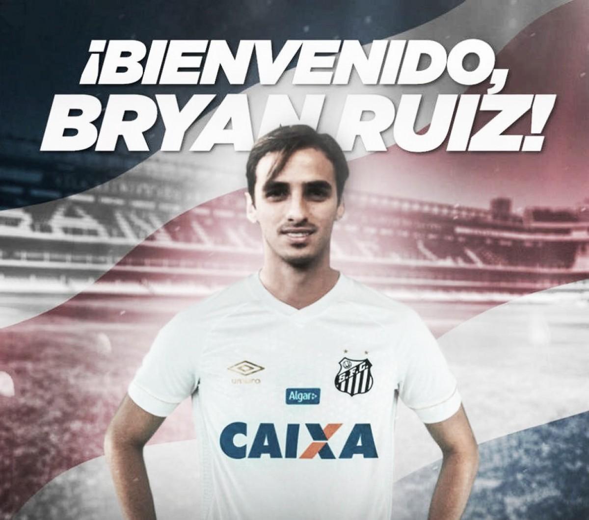 Santos apresenta o meio-campista da Costa Rica, Bryan Ruiz
