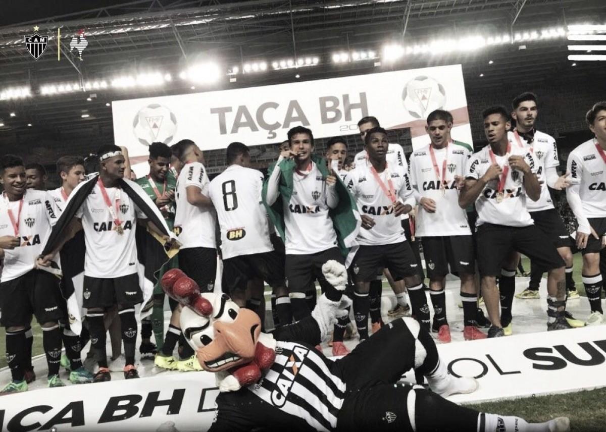 Emocionados, jogadores do Atlético-MG exaltam torcida na conquista da Taça BH Sub-17