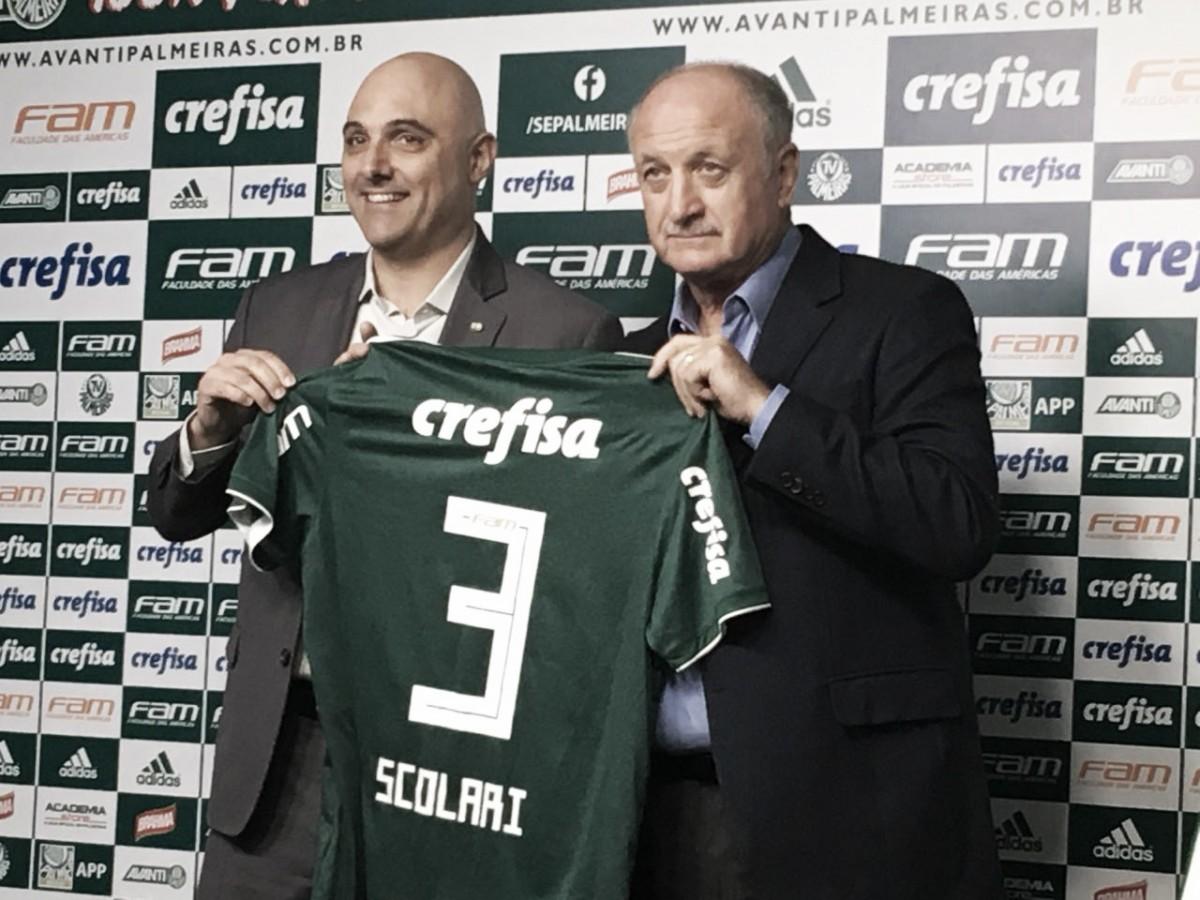 """Felipão retorna ao Palmeiras e fala sobre temporada: """"Não vou priorizar uma competição"""""""