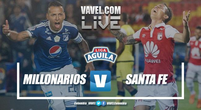 Resumen Millonarios vs Santa Fe por la Liga Águila 2018-II (0-3)